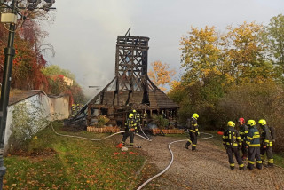 Prague's wooden Church of St. Michael 'virtually destroyed' by fire, the cause is unknown