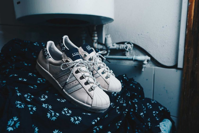 The Footshop x adidas Superstar 'Blueprinting' / via Footshop