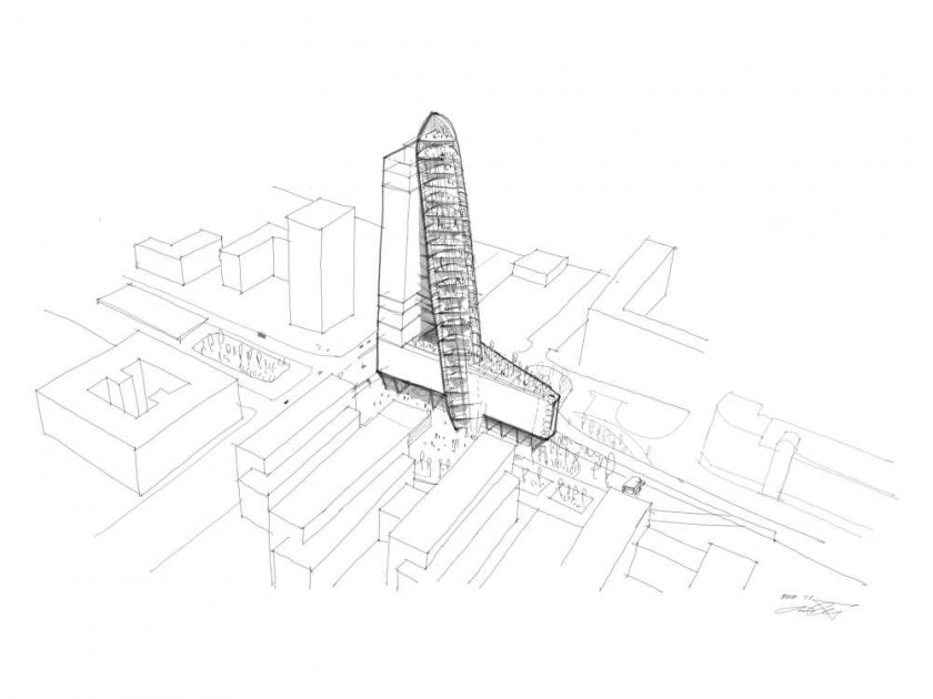 Early sketch of Top Tower / via Trigema
