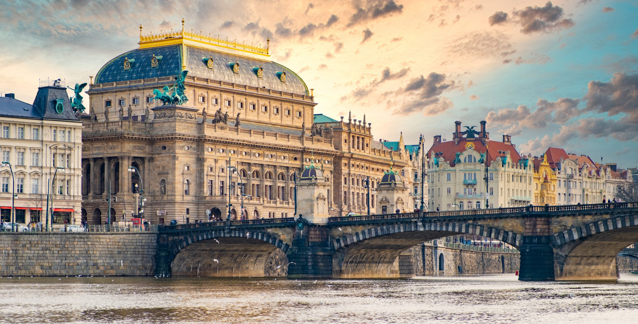 Prague's National Theatre via iStock / Hugo