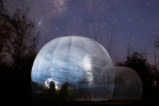 Secret bubble hotel offers a view of the night sky away from Prague's lights