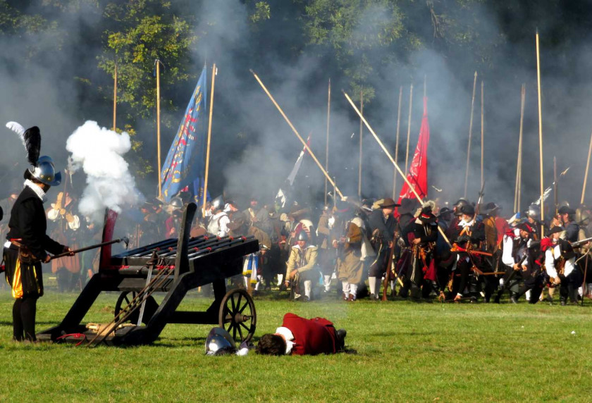 Historical weapons at a re-enactment of the Battle of White Mountain. (photo: Raymond Johnston)