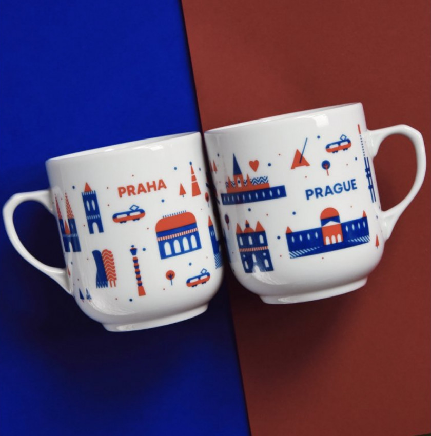 The Prague mug, by CZECHDESIGN.
