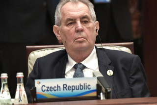 Miloš Zeman at the Belt and Road Forum in Beijing on April 27, 2019 via Wikimedia / Presidential Press and Information Office