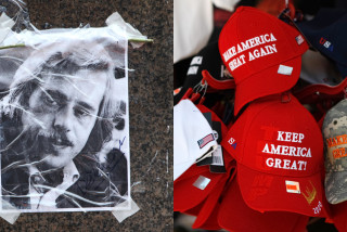 MAGA cap placed atop bust of Václav Havel at U.S. Capitol