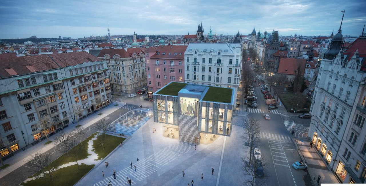 Planned glass-covered shopping center on Prague's Pařížská Street faces growing opposition