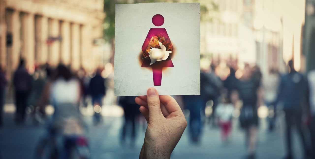 Women's rights protest in Poland via iStock / Bulat Silvia