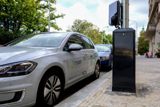 Need to recharge your electric car? Just plug into Prague's new high-tech streetlamps