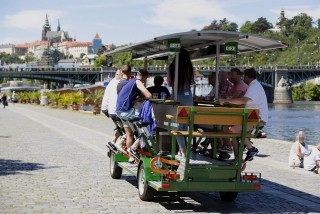 Last call for beer bikes: Municipal Court upholds Prague's efforts to ban them from the city streets