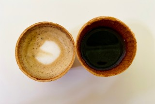 Czech university students have created edible coffee cups to cut down on waste
