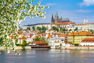 Prague Castle viewed from Old Town in the spring via iStock / Vladislav Zolotov