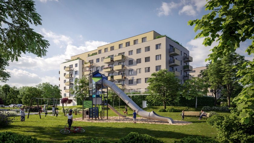 Three playgrounds will be built in the Albatros Kbely, including the Gigant from the Danish company Kompan.