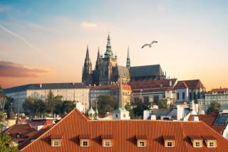 Prague Castle in the spring via iStock / Givaga
