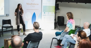 Giving a talk at MindfulnessCon