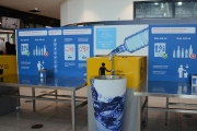 Prague airport's new anti-plastic campaign encourages travelers to fill up for free