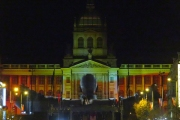 Video: Prague celebrates 30 years since the Velvet Revolution with light show at National Museum